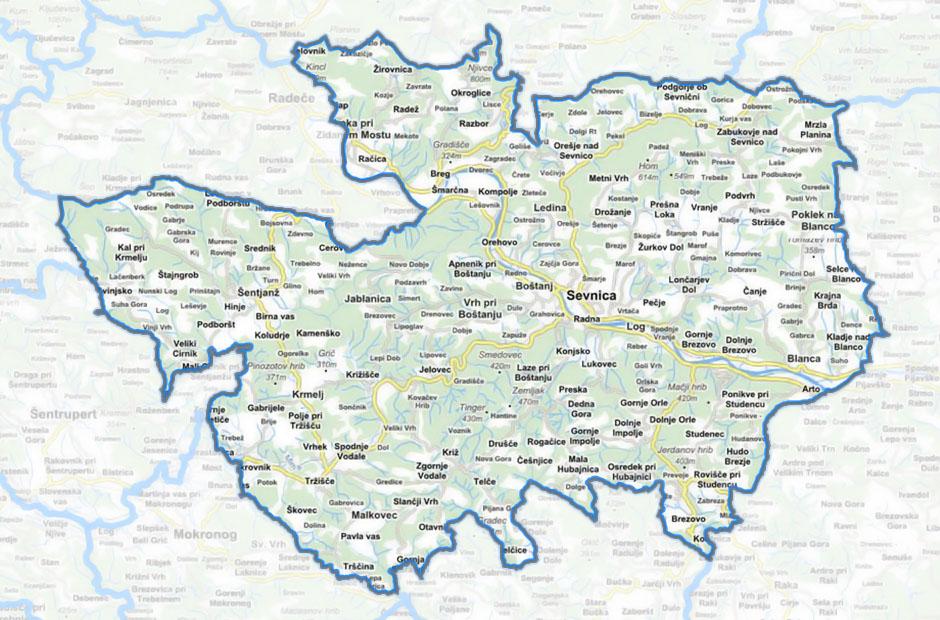 Zemljevid GZ Sevnica